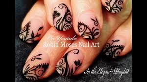 diy black lace nails matte filigree nail art design
