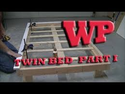 how to make a twin bed part i the frame youtube