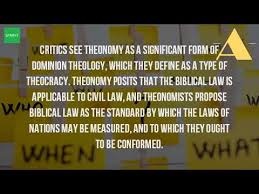 what is the meaning of theonomy youtube