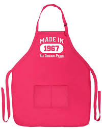 Men Cooking Apron Amazon Com 50th Birthday Gift Made In 1967 Funny Apron For
