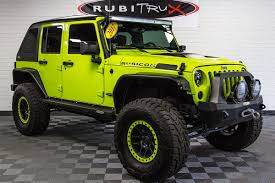 jeep dark green jeep wrangler jk unlimited custom builds for sale at rubitrux