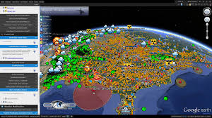 Light Pollution Map Usa by Climateviewer 3d Tutorial Using The Google Earth Climate Change
