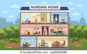 home interior vector nursing home interior nursing home city building interior eps