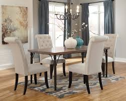 tripton rectangular dining room table u0026 4 uph side chairs d530
