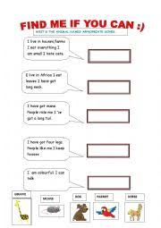 english worksheets the animals worksheets page 373