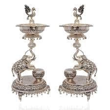 silver items نتيجة بحث الصور عن silver pooja set pooja items