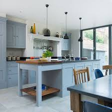 blue grey kitchen cabinets 16 nicely painted kitchen cabinets home design lover