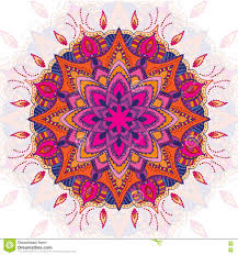 Beautiful Purple Motifs Beautiful Vector Colored Mandala Ornament Vintage Decorative