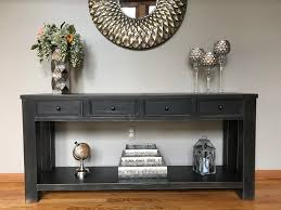Sofa Tables With Drawers by Signature Design By Ashley Gavelston Rectangular Black Sofa Table