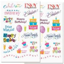 birthday stickers current catalog