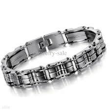 men steel bracelet images 2018 stainless steel bike chain bracelet fashion mens personilized jpg