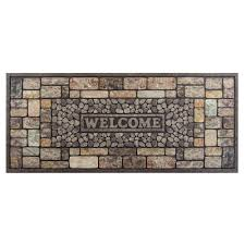 Recycled Rubber Tiles Home Depot by Recycled Rubber Door Mats Mats The Home Depot