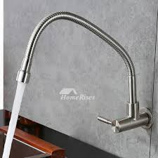 wall kitchen faucet farmhouse kitchen faucet wall mount brushed stainless steel silver