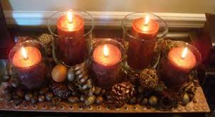 Candle Centerpieces Candle Centerpiece Ideas Table Decoration With Fall Leaves And