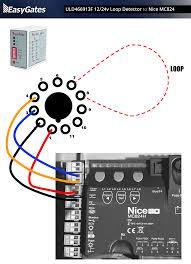 12 24 volt loop detector to nice mc824 control board