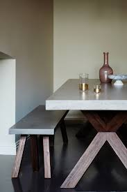 bleecker rectangle dining table tables and concrete