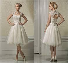 Knee Length Wedding Dresses Cap Sleeve Knee Length Short Wedding Dresses Dresscab