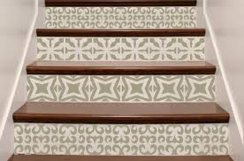 Moroccan Wall Decal by Vinyl Stair Decals Riser U0027tiles U0027 Staircase Decal