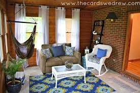 indoor patio makeover final reveal the cards we drew