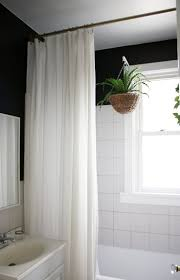 Bathroom Curtains Ideas by Nice Shower Curtain Ideas For Tall Ceilings