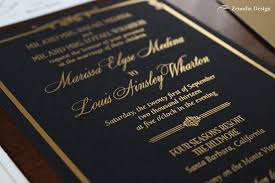 and black wedding invitations black and gold foiled wedding invitation zenadia design