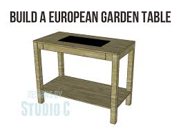 Free Plans For Making Garden Furniture by Garden In Style With A European Garden Table U2013 Designs By Studio C