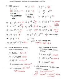 Exponents Printable Worksheets Scientific Notation Operations Worksheet Worksheets