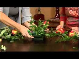 how to create a long floral centerpiece in foam youtube