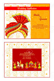 Indian Invitation Card Vector Illustration Of Indian Wedding Invitation Card Royalty Free