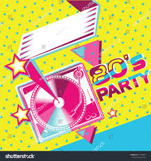 80s retro party poster design stock vector 535770067 shutterstock