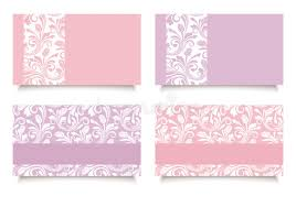 Purple Business Cards Pink And Purple Business Cards With Floral Patterns Vector Eps 10