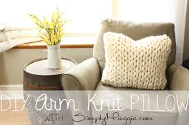 Knitted Cushions Free Patterns Big Stitch Knit Pillow Pattern Simplymaggie Com