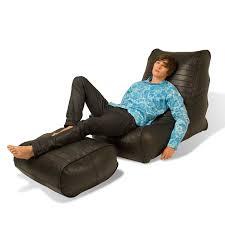 Brown Leather Bean Bag Chair Indoor Bean Bags Fiorenze Bean Bags Embassy Black Genuine