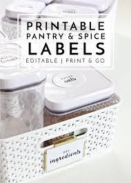 editable printable jar labels new to the organization toolbox editable and printable pantry