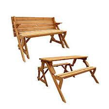 folding bench into picnic table