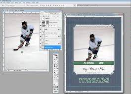 hockey templates for photoshop inserting your picture into a custom trading card template youtube
