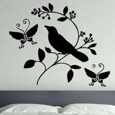 wall stickers wall decals wall vinyl vinyl wall art vinyl art bird and butterfly wall stickers