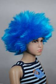 wigs for halloween thing1 thing2 blue halloween kids children baby wig fits from