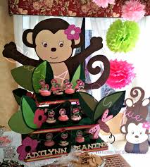 chic and unique parties monkey baby shower