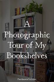 a photographic tour of my bookshelves parchment