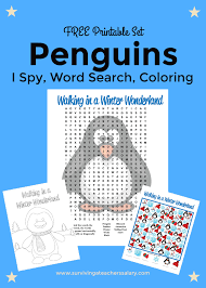 Halloween Sudoku Printable by Free Printable Penguins Worksheets Coloring Sheet Word Search I Spy