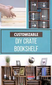 Design Your Own Bookcase Online Best 25 Crate Bookshelf Ideas On Pinterest Diy Interior