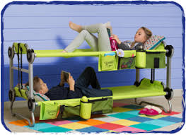 Portable Bunk Beds Kid O Bunk A New Spin On The Hotel Cot