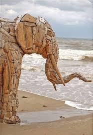 driftwood sculpture insteading