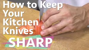 how to keep your kitchen knives sharp consumer reports youtube
