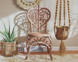 vintage wicker chair etsy