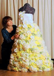 wedding dresses norwich a wedding dress made from flowers created to the edp wedding