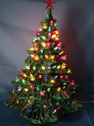 ceramic christmas trees nobby design ideas fashioned ceramic christmas tree lighted