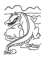 Coloriage crocodile à imprimer et colorier