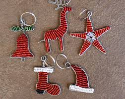 keychain beaded key ring key holder purse charm